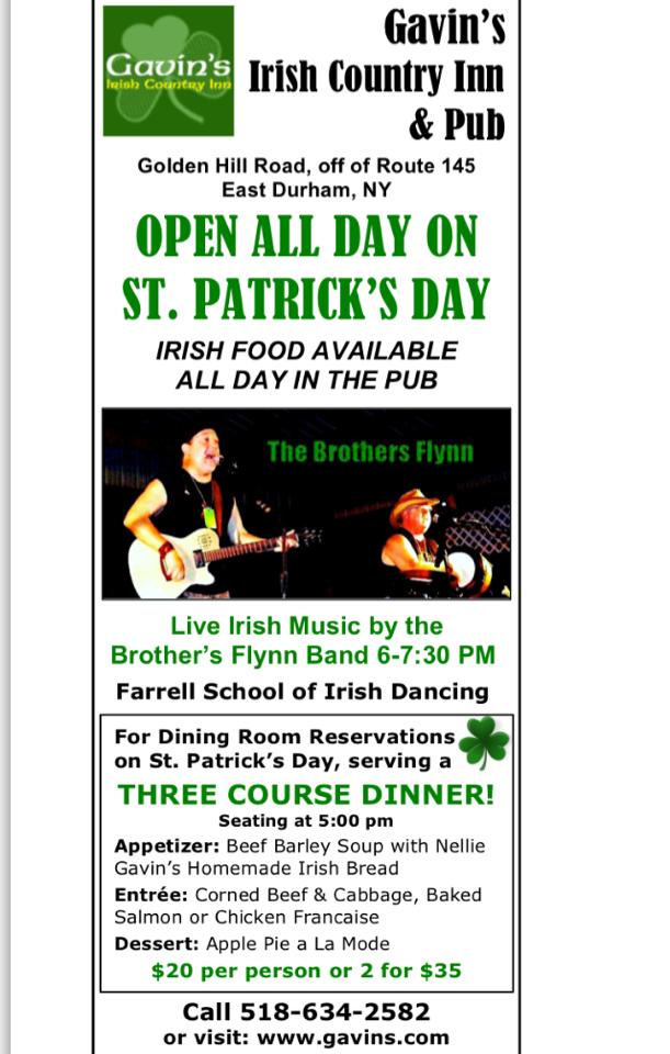 Happy St. Patrick's Day – Pub open ALL day