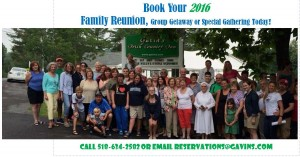 Book your 2016 Family Reunion, Group Getaway, Wedding Destination Weekend Today!