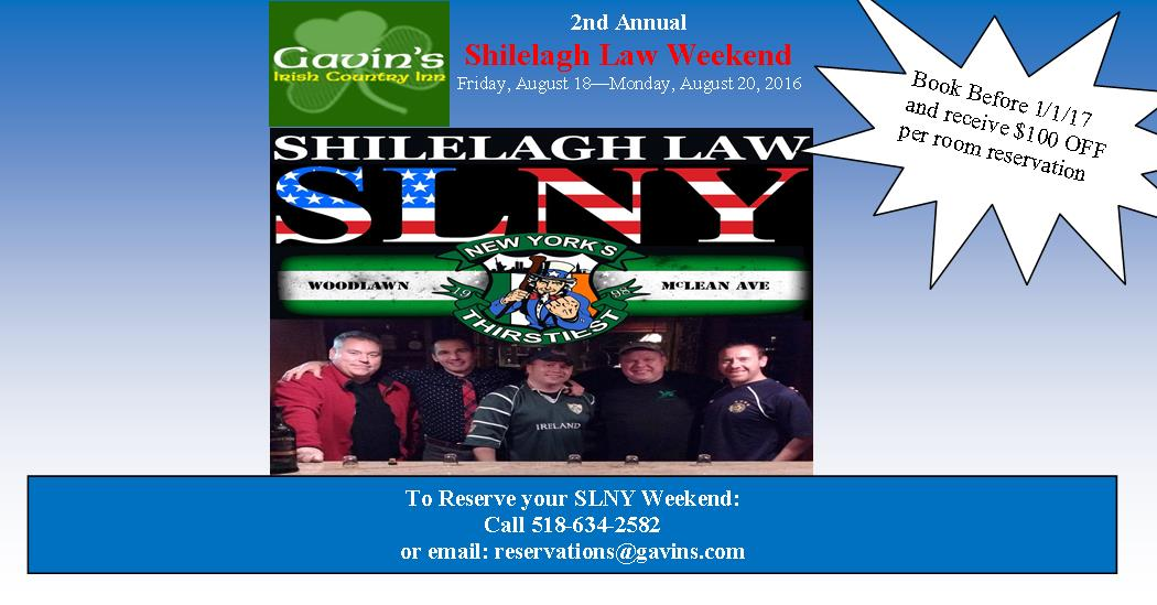 Shilelagh Law Weekend Getaway