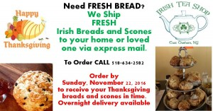 Order Nellie Gavin's Irish Breads & Scones all Year Long!